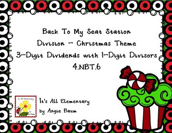 Back To My Seat Station Division - 3 Digit Dividends - Christmas