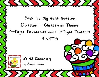 Back To My Seat Station Division - 4 Digit Dividends - Christmas