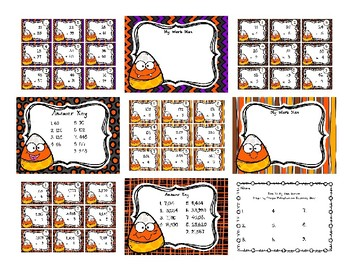 Back To My Seat Station Multiplication BUNDLE Halloween Edition