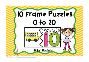 Back To School 10 Frame Puzzles