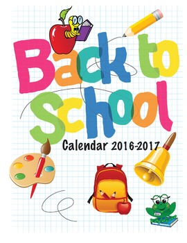 Back To School 12 Month Calendar and Teacher's Daily Schedule