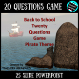 Back To School 20 Questions PowerPoint Game