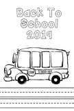 Back To School 2019 School Bus Coloring Sheet