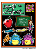 Back To School FREE VERSION (clip art by Happy Markers)