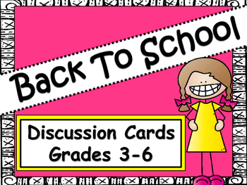 Back To School Activity: Get To Know Each Other