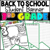Back To School 3rd Grade Student Banner Activity!