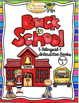 Back To School - 5 Bilingual Interactive Books