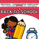 Back To School (5-day Thematic Unit)