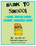 Back To School {7 school supplies-themed alphabet awarenes