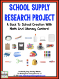 Back To School!  A School Supply Research Creation!
