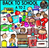 Back To School A to Z  Clip Art Set {Educlips Clipart}