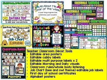 Back To School ACTIVITIES-MEGA STARTER BUNDLE-Lesson plans,centers,teacher tools
