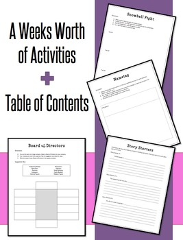 Back To School Activities: First Week Back Set 3