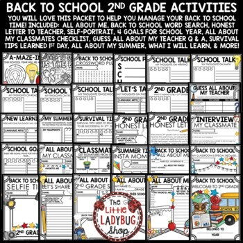 Back to School Activities 2nd Grade  - All About Me Poster- First Week of School