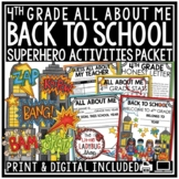 Superhero Theme Back to School Activities 3rd Grade, 4th G