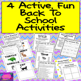 Back To School Activities * 4 Engaging Get To Know You Activities