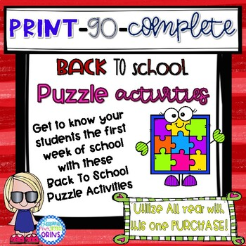 Back To School Activities- Getting to Know your Students