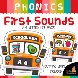 Back To School Activities: Beginning Sounds Match | Initial Sounds Puzzles