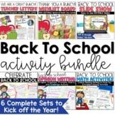 Back To School Activities Bundle
