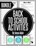 Back To School Activities Bundle: First Week Back Bundle 2
