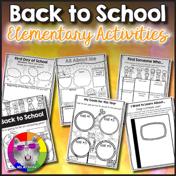 Back To School Activities Elementary School
