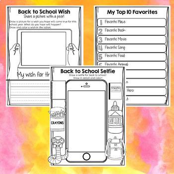 Back To School Activities Elementary School