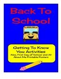 Back To School Activities & Printables