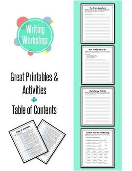 English Writing Activities