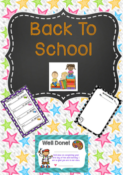 Back To School - Activities and first day certificate