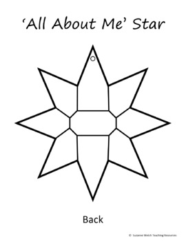 Back To School Activity – All About Me Stars