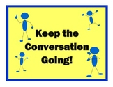 Back To School Activity: Keep the Coversation Going!