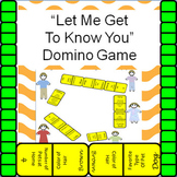 "Back-To-School Activity:  ""Let Me Get To Know You"" Domino Game"