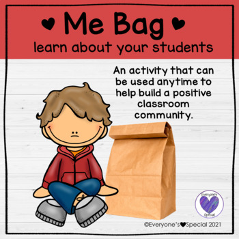 Back To School Activity- Me Bag