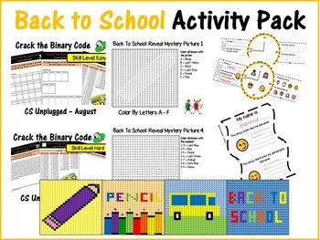 Back To School Activity Pack - Paper & Computer Lab