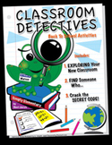Back To School Activity Package: Classroom Detectives