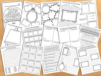 Back To School Activity Packet - 2nd Grade