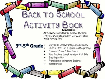 Back-To-School Activity Packet - 18 Pages of Engaging Activities (Elementary)