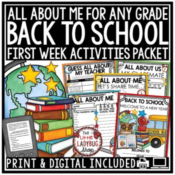 Back To School Activities- 3rd Grade, 4th, 5th Grade