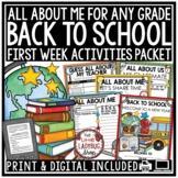 Back To School Activities- 3rd Grade & More