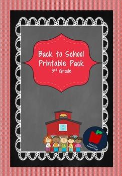 Back To School Activity Packet for Grades 3