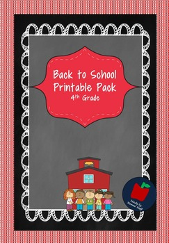 Back To School Activity Packet for Grades 4