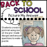Back to School - All About Me Picture My Answer Puzzle