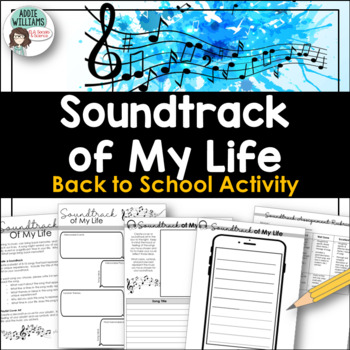 Back To School Activity - Soundtrack of My Life / Playlist of My Summer
