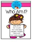 Back To School Activity - Who Am I?