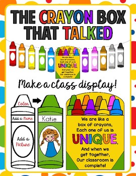 Back To School Activity and Display for The Crayon Box tha