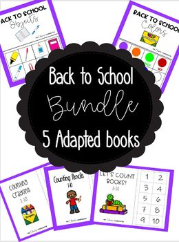 Back To School Adapted Book Bundle