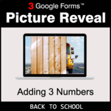 Back To School: Adding 3 Numbers - Google Forms Math Game