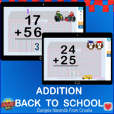 Back To School Addition Two Digit Back To School Boom Cards
