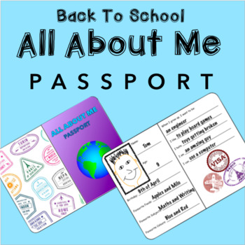 Back To School All About Me Passport Template