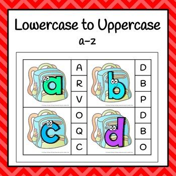 Back To School Alphabet Clip It Cards